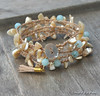 Beachy Mother of Pearl Wrap Bracelet
