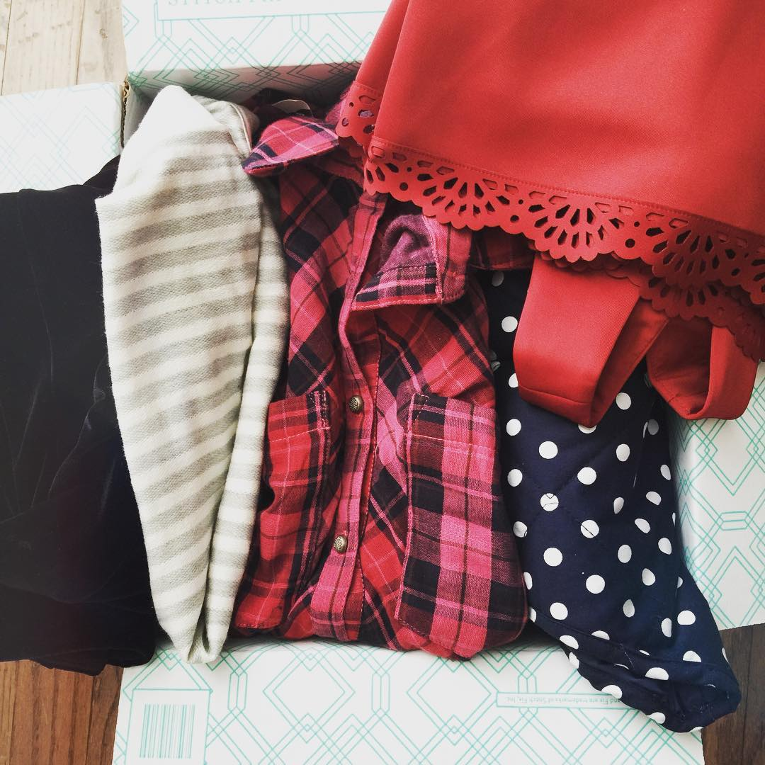 Got my latest @stitchfix box today and I love, love, love it... And, I asked for a red dress for Valentine's Day and they followed through! Can't wait to share these on the blog next Thursday! Stay tuned! #stitchfix #reddress #polkadots #stripes #ohyes