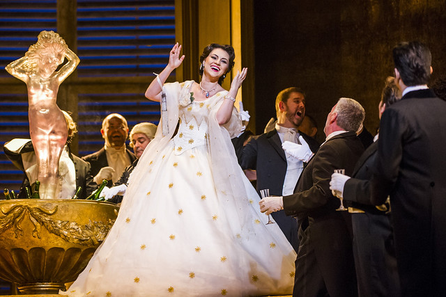 Venera Gimadieva in La traviata © ROH 2016. Photo by Tristram Kenton