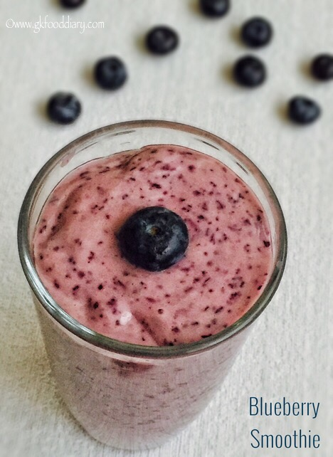 Blueberry Smoothie Recipe for Babies, Toddlers and Kids1