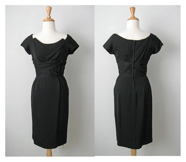 Vintage black dress collage