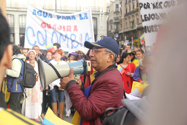 Manifestación de colombianos en el exterior