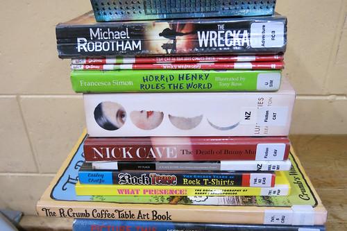 Big Bargain Book Sale - book pile