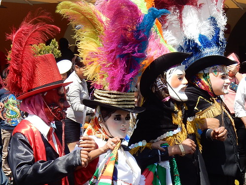 Puebla - dansende carnavalsgroep - 2
