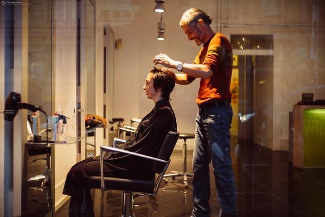 Chez le hairdresser
