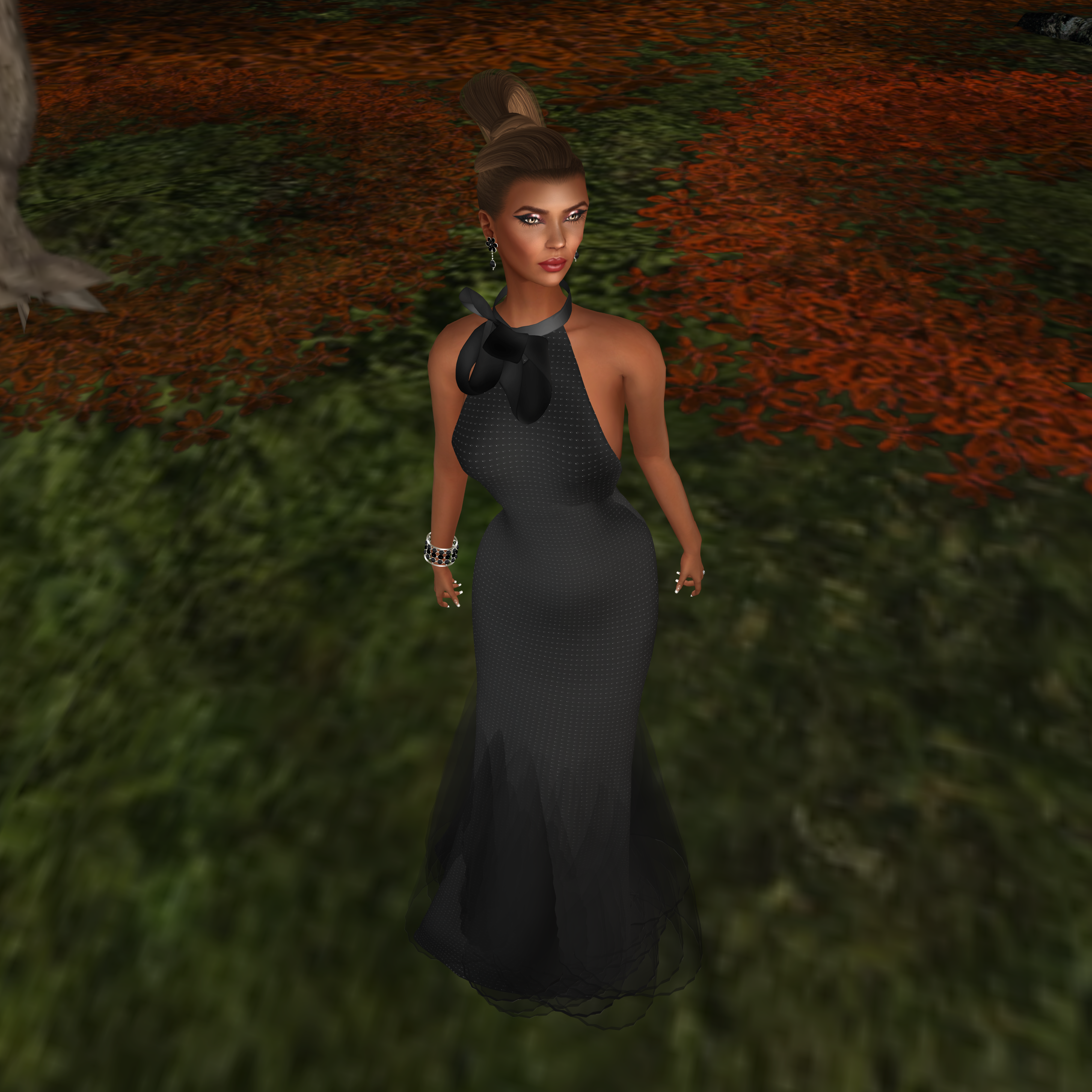 SNOWPAWS @ Designer Showcase March Round- Au Revoir Silk Gown
