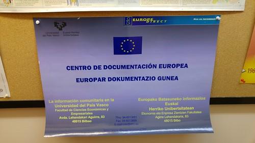 Visita al Centro de Documentación Europea (UPV-EHU)
