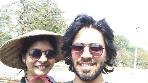 Selfie in the blazing sun