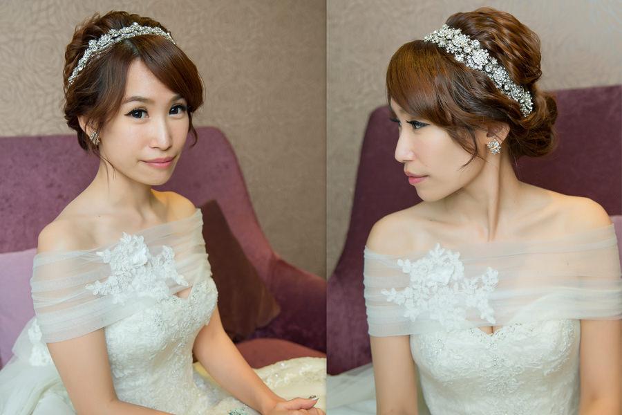 新秘Yuki│新秘推薦│白紗│盤髮│新娘髮型
