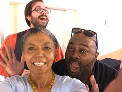 Topher Lawton, Maurice Coleman and Jill Hurst-Wahl