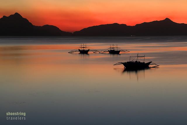 twilight colors at Corong Corong Beach