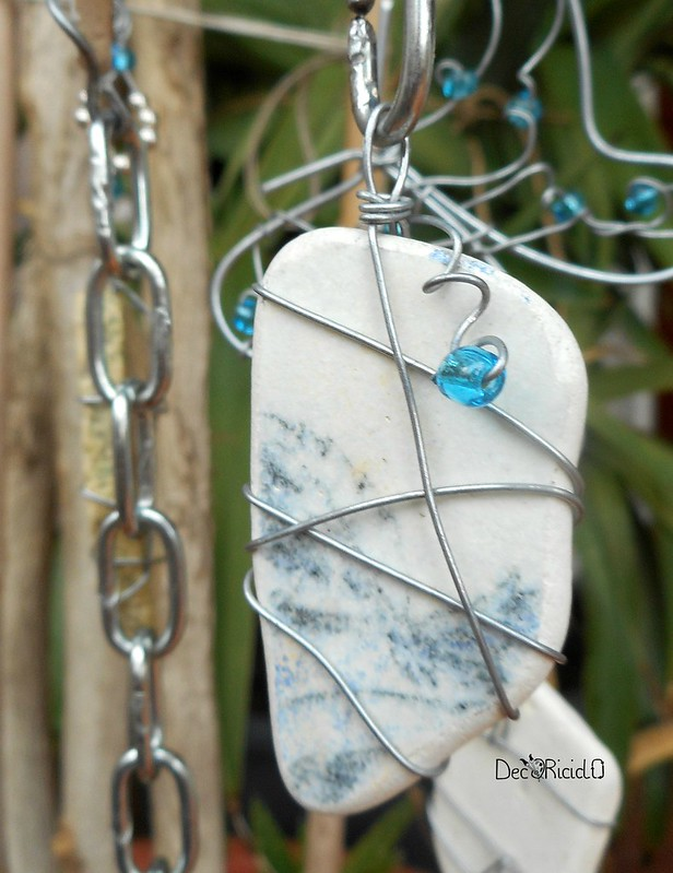 mobìle farfalle, vetro e ceramica 7
