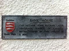Photo of John Buchan black plaque