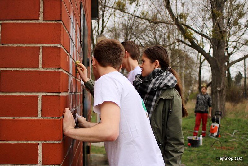 Czyszczenie kirkutu - Sochaczew 2016