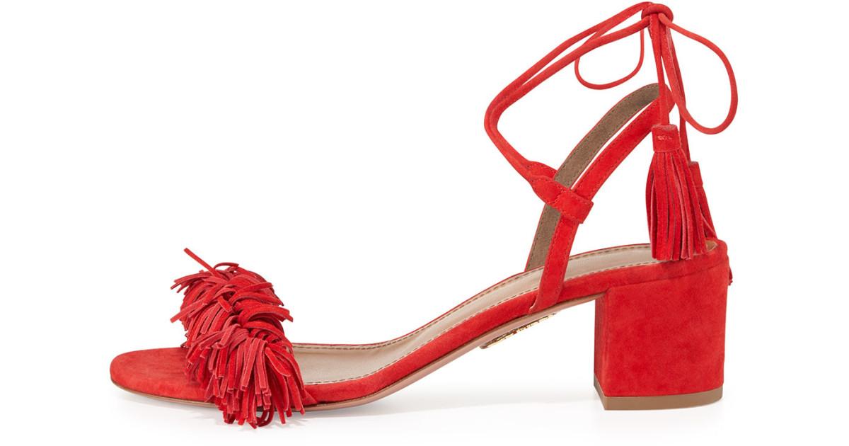 sandalias rojas aquazzura clon romwe