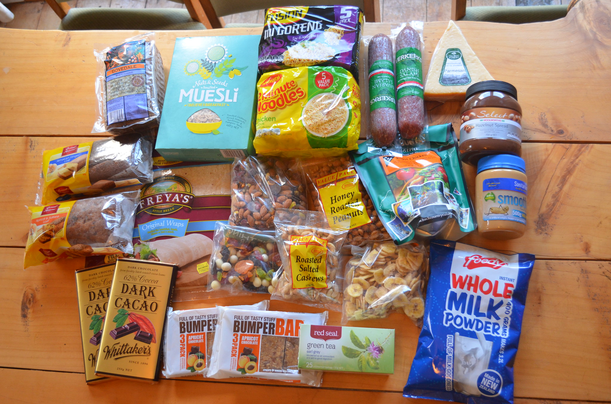 FOOD! 5-day hiking trip, Abel Tasman