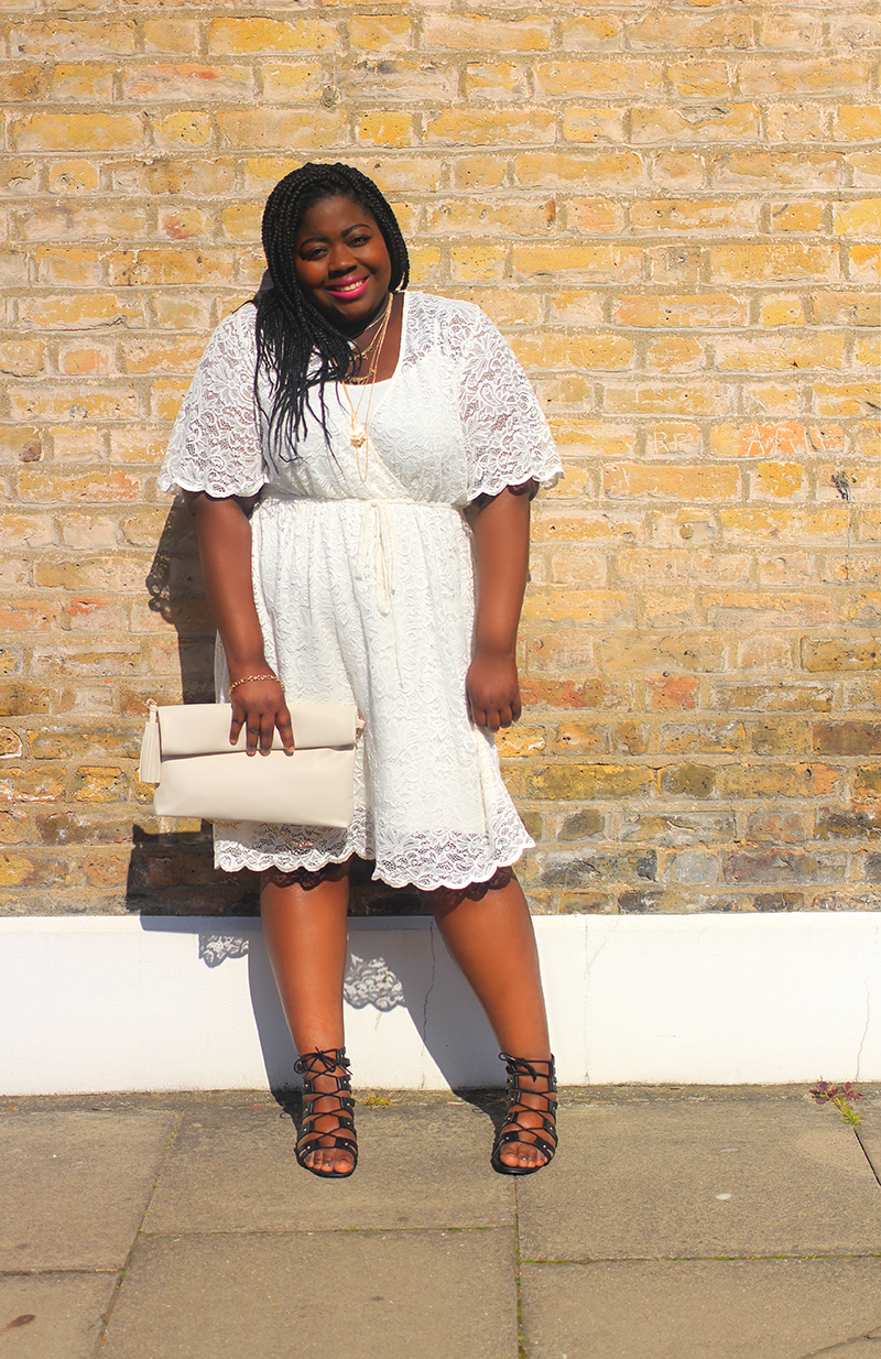 Navabi White Lace Dress