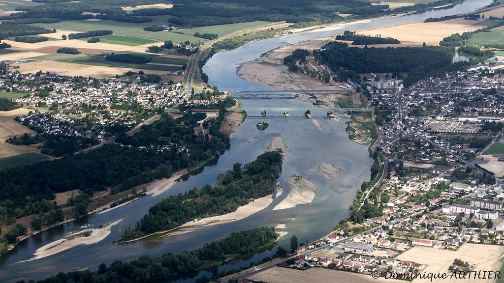 Sully-sur-Loire (Loiret) (vue aérienne)