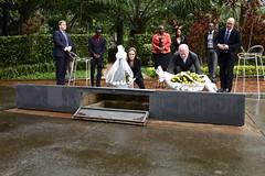 Angelina Jolie & William Hague visit the Kigali Genocide Memorial