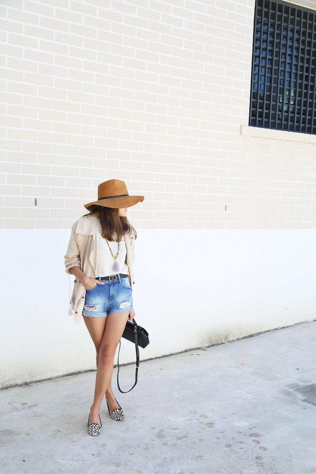 denim shorts linen camel parka jessie chanes 7
