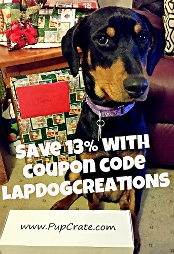Penny Loves PupCrate - Save 13% with coupon code LAPDOGCREATIONS