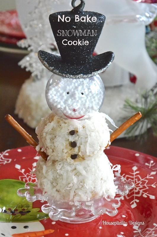 No Bake Snowman Cookie - Housepitality Designs