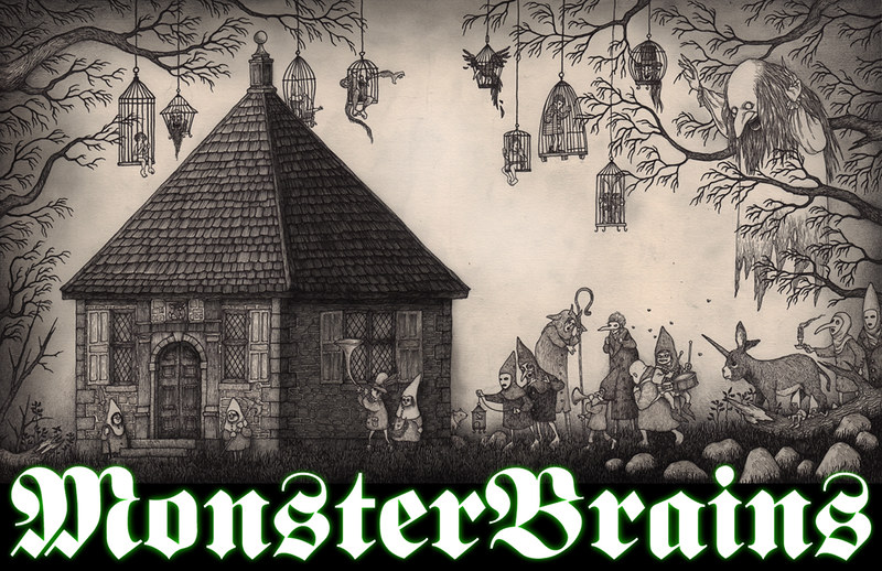 MONSTER BRAINS LOGO - John Kenn Mortensen