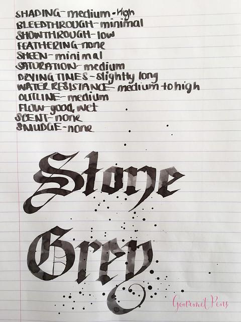 Ink Shot Review Graf Von Faber-Castell Stone Grey @GouletPens @FaberCastell (5)