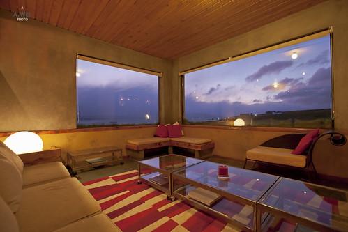 chile sunset patagonia southamerica hotel lounge 日落 puertonatales 酒店 南美洲 智利 altiplanico