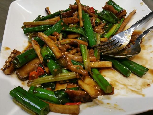 2016-Feb-7 Dinesty (Metrotown) - Hakka Style Shredded Pork w/ Squid & Green Onion