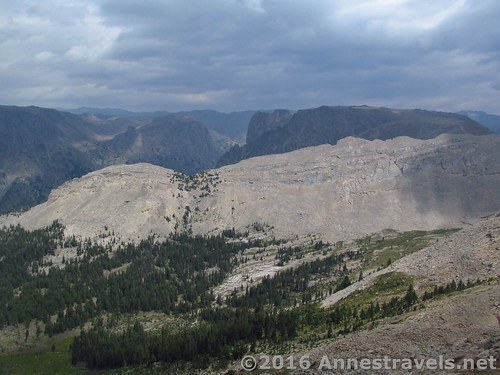 More views from White Rock above the Green River Lakes of the Widn River Range in Wyoming