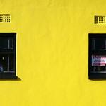 Two windows in a Preston wall