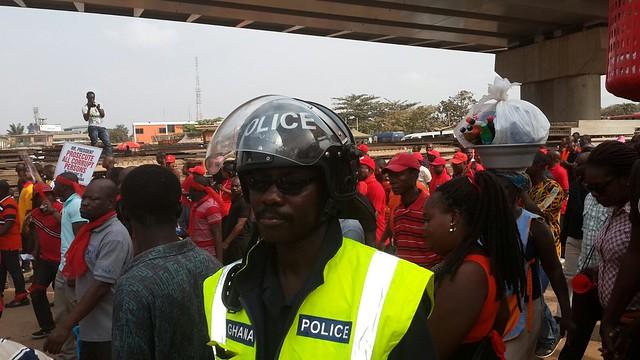 ghana labour demo