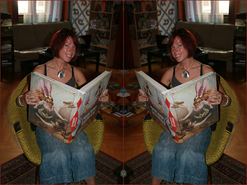 Feeling like a little pixie reading a GIANT book, Lavender Circus Hostel