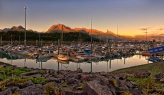 Sunrise at Valdez Marina