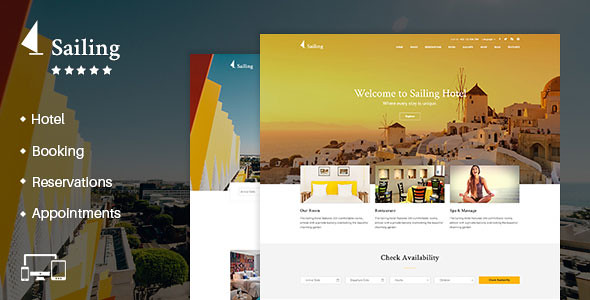Sailing - Hotel WordPress Theme v1.8