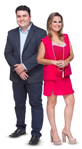 Apresentadores TV Tibagi, Eduardo Santos e Andréia Silva