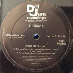 RIHANNA:MUSIC OF THE SUN(LABEL SIDE-D)