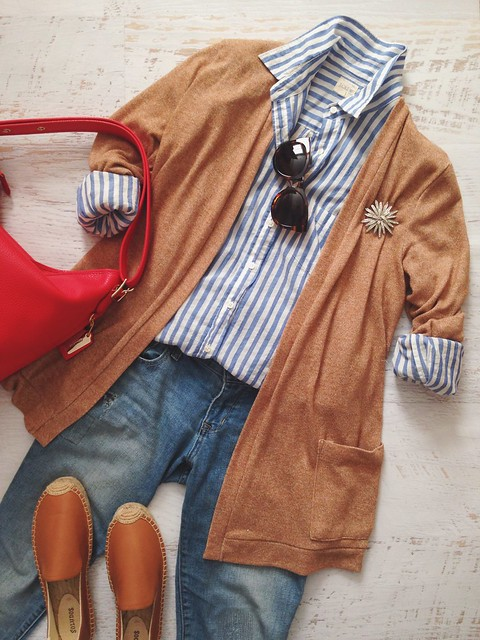 tan + stripes