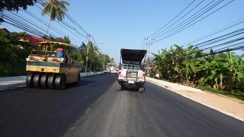 Koh Samui Road Work at Bangpor