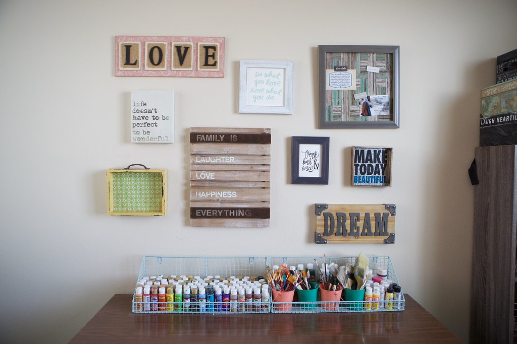 Wall Decor in Craft Room