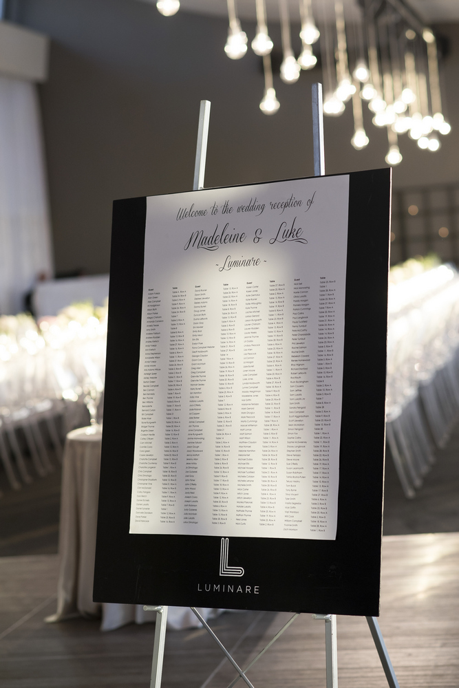 Seating chart - Timeless ,elegant & classic with a touch of glamour Wedding in Melbourne | Photo by Blumenthal Photography. | I take you - UK wedding blog #elegantwedding
