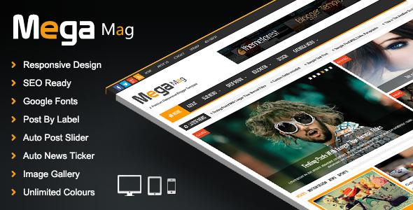 Mega Mag v1.3.0 – Responsive Magazine Blogger Template