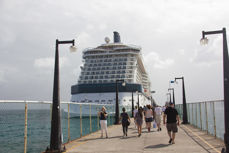 Celebrity Equinox in Basseterre port
