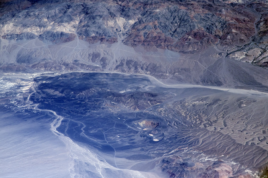 Aerial view of Ubehebe Crater, Death Valley, Inyo County,  California