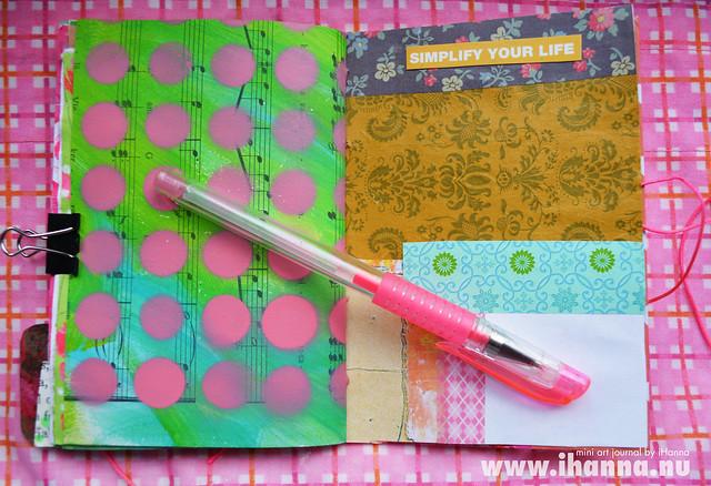 Mini Art Journal Patterns and pen - created by iHanna