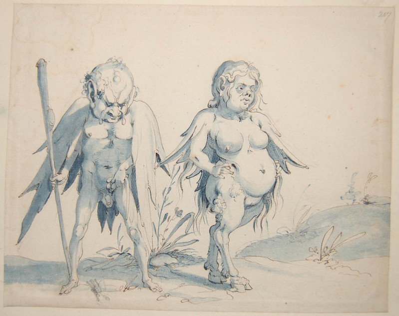 Arent van Bolten - Monster 207, from collection of 425 drawings, 1588-1633