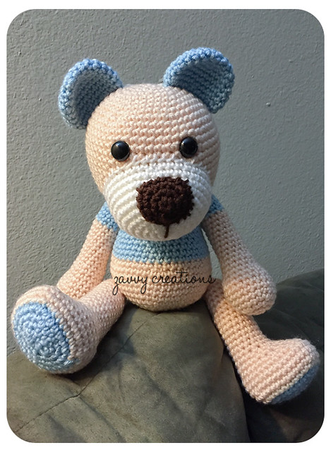 Bear Amigurumi Seated 2