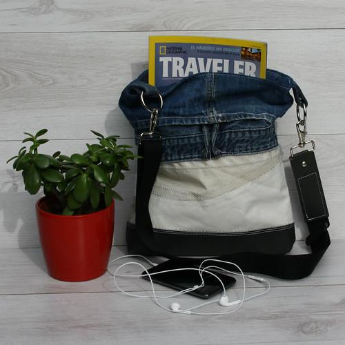 handgemaakte-tas van gerecycled materiaal