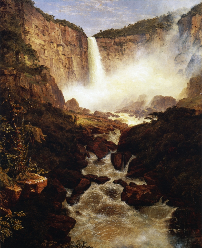 The Falls of Tequendama, Near Bogota, New Granada by Frederic Edwin Church, 1852